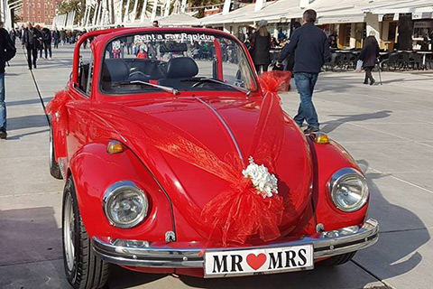 Wedding day with beetle